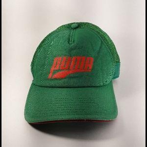 Puma Baseball Cap Green Orange